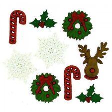 Dress It Up Buttons Deck The Halls Christmas 7pc Embellishment JJ094 Aus Seller
