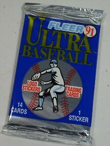 1991-Fleer-Ultra-Baseball-MLB-Major-League-Baseball-Trading-Card-Pack-of-14
