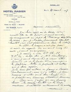 41 Blois Courrier Hotel Rabier Paul Rabier Proprietaire 1927 Jfzmnccr-08004602-643995680