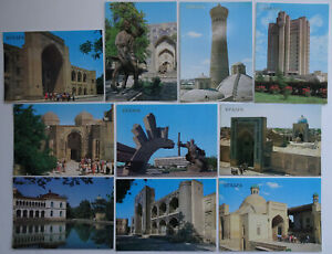 Bukhara-Postcards-16th-to-20th-Century-Era-1989-Lot-of-10-Monument-Palace