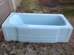 Antique Bathroom Toilet Bathtub Sink Set Blue 1950 S