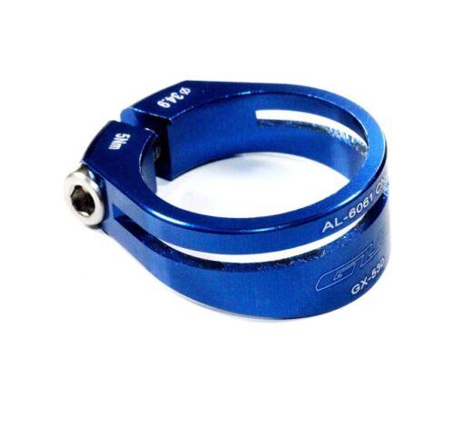 GUB GX-530 BLAU Sattelklemme 34,9mm 15gr AL-6061 CNC Fahrrad klemme ALU