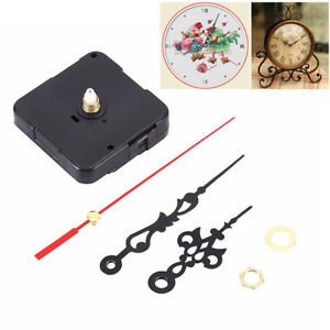 Black-Wall-Clock-Quartz-Movement-Mechanism-Hand-Replacement-Parts-Set-Kit
