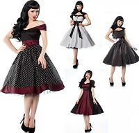 ATX Pin-Up Vintage 50er Kleid Rockabilly Tanzkleid Petticoat Rock´n Roll 36-46