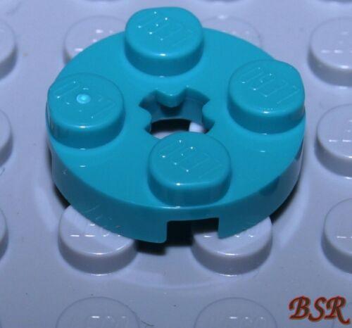 28 Stück br.blau-grüne 1//3 Steine 2x2 Rund Platte Plättchen 4032 /& NEU ! SK81