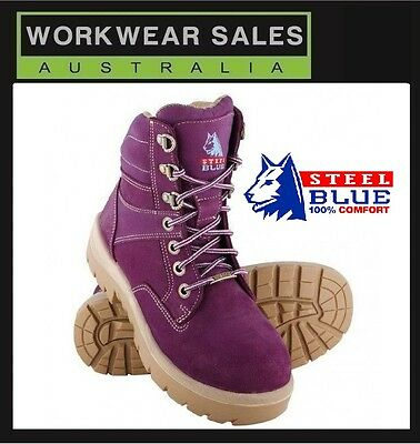 Liberal Steel Blue Southern Cross Womens Work Steel Cap Boots Shoes Pink & Purple 522760 Pleasant To The Palate Women's Shoes Clothing, Shoes & Accessories