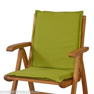 gartenm bel auflagen f r sessel niedrig niederlehner niedriglehner stuhl in gr n ebay. Black Bedroom Furniture Sets. Home Design Ideas