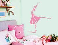 Wandtattoo Ballerina Kinderzimmer Mädchen Tanz Tanzen Ballett Träume Flur bsm033