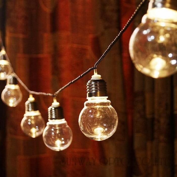 20 Solar Mini Globe fairy lights On A String