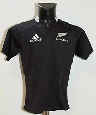 BOYS NEW ZEALAND ALL BLACKS 2011 RUGBY SHIRT JERSEY ADIDAS SIZE 13-14 Years VGC