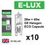 Pack of 10 x G9 28w=40w Branded 240V Dimmable 370 Lumen C Rated Safety Fused Eco