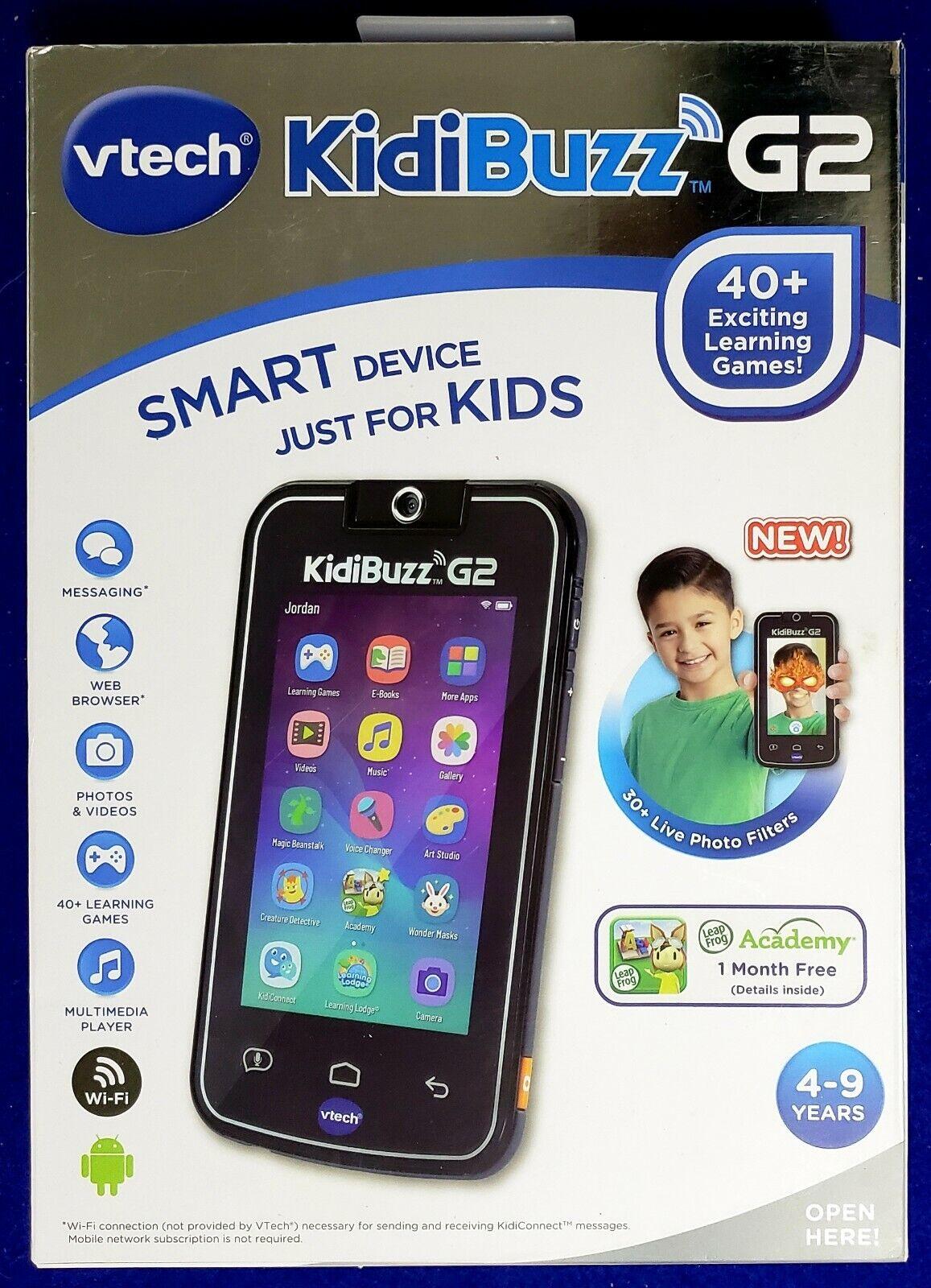 Vtech kidibuzz G2 dispositivo inteligente para niños 30+ filtros de fotos en vivo