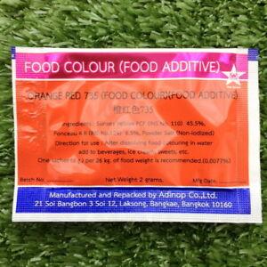 orange red colour food coloring powder safe additive bakery Thai ...