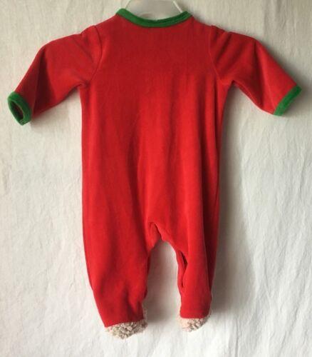 ... Little Me My First Christmas Pajamas Sleeper Footed Teddy Bear Baby Boy  or Girl ddb711b67