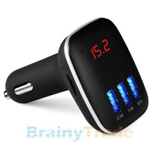 Bluetooth FM Transmitter for Car Wireless Radio Adapter 3 USB Charger MP3 Player