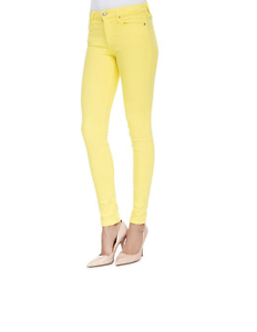 Joe's 1405 Women's Lemon Mid Rise Super Skinny Jeans Sz 28