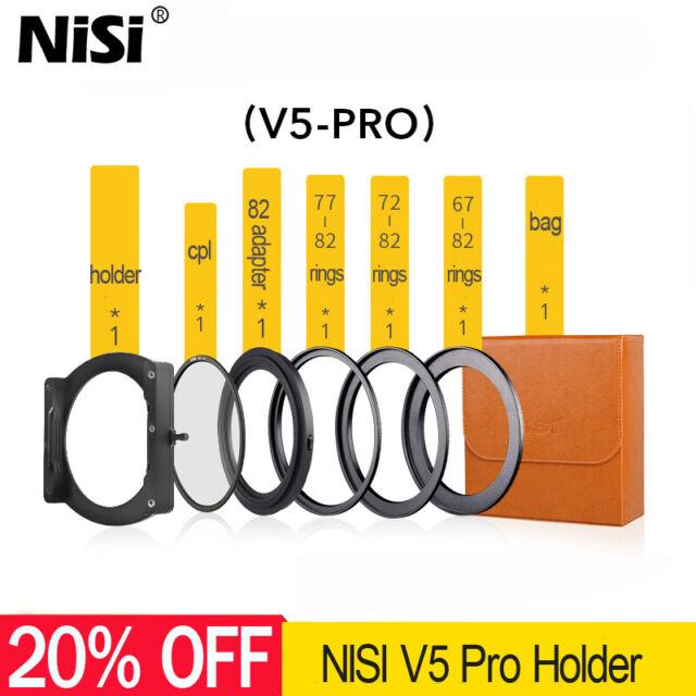 NiSi V5 PRO 100mm Filter Holder Kit + CPL + 67 72 77 82mm Rings