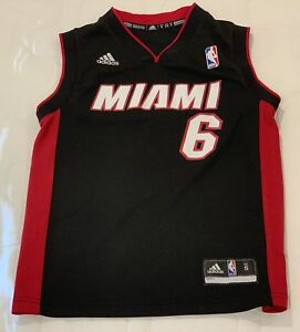 Image is loading LeBron-James-6-Basketball-Jersey-Black-Youth-Miami- b52caf586c17