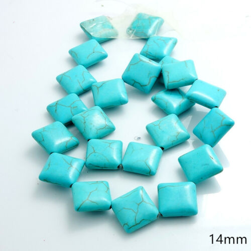 Blue Turquoise Gemstone Spacer Loose Beads Charm Findings 15/'/' Strand Wholesale