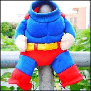 Pet Dog Cat Superman Superhero Costume Outfit Halloween Clothes Uk Ebay