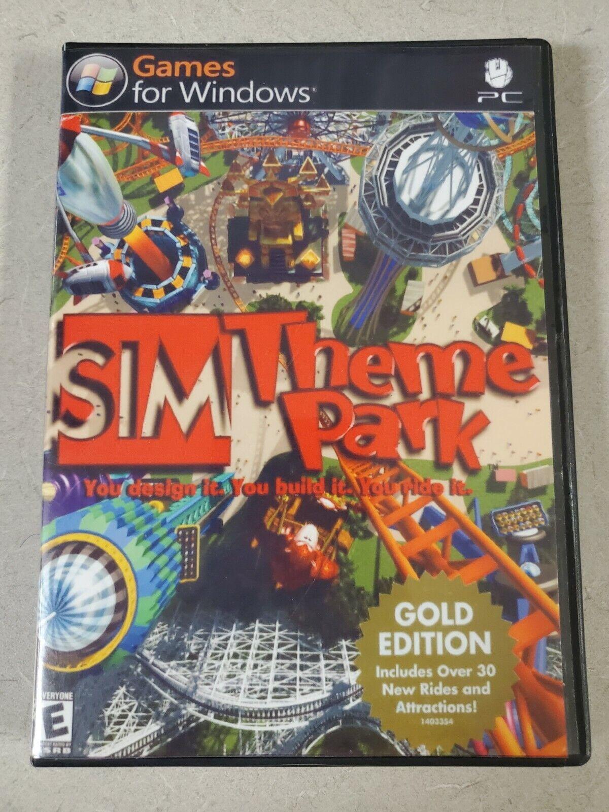 Image 1 - SIM Theme Park Gold Edition (Windows PC, 2002) ~ 2 Disc Set Custom Cover Art