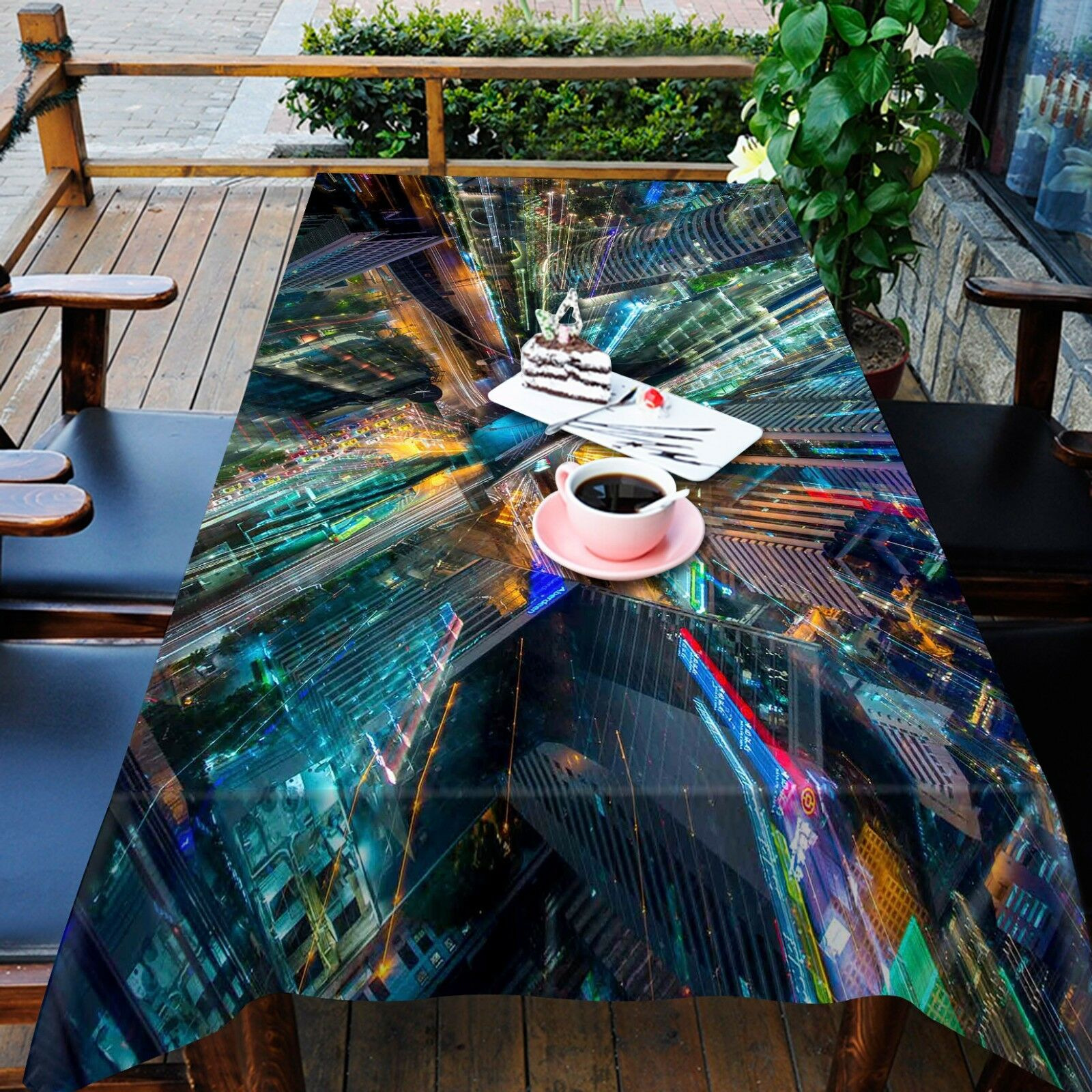 3D City 8353 Tablecloth Table Cover Cloth Birthday Party Event AJ WALLPAPER AU