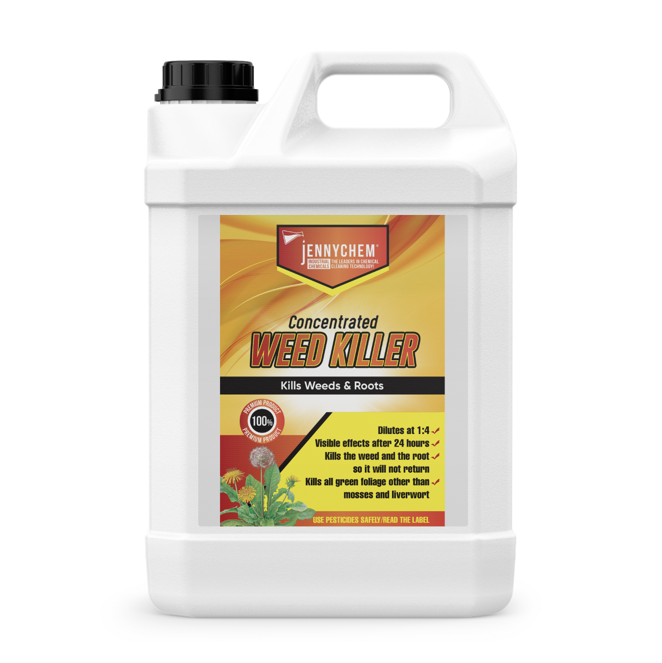 5L Industrial Strength Total Weed Killer - Super Concentrated Formula