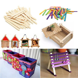 50-100X-Wooden-Lollipop-Sticks-Popsicle-Ice-Lolly-Cake-Pops-Make-Craft-Art-DS