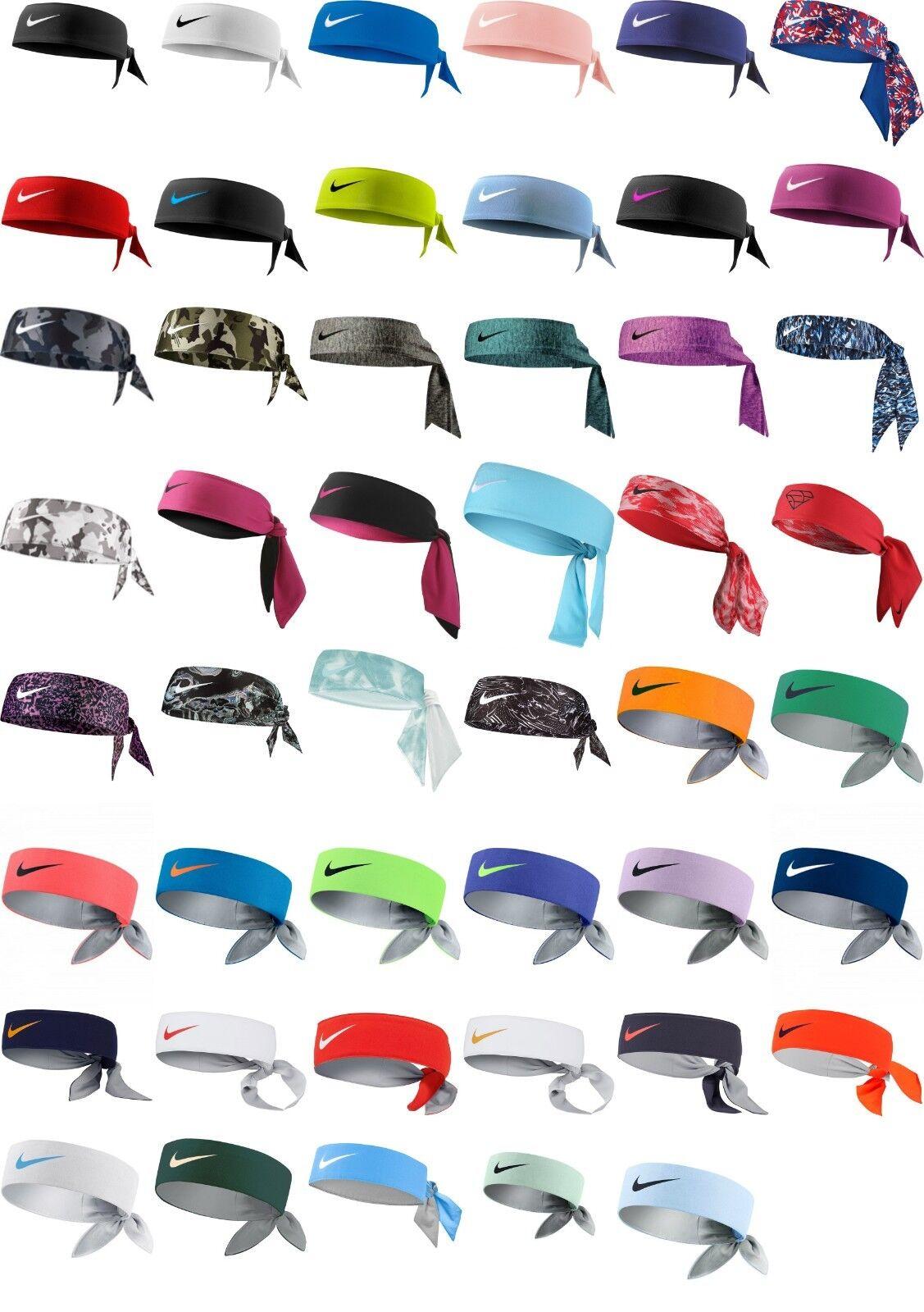 Nike Dry Bandana Head Tie Headband Midnight Turquoise//Silver Men/'s Women/'s