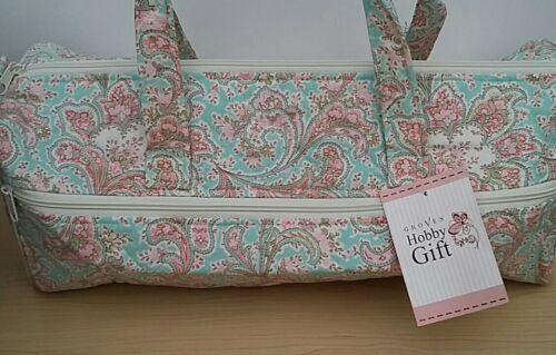 Hobby Gift-Knitting//Crochet//Project-Hold All Style Bag-Pink//Blue Paisley. BNWT