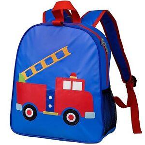 7e0893896a12 Image is loading Kid-Fire-Engine-Transport-Backpack-Toddler-Backpacks-Truck-