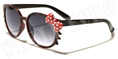 Tortoise Shell Cute Kitty Spotty Bow and Whiskers Womens Vintage Sunglasses