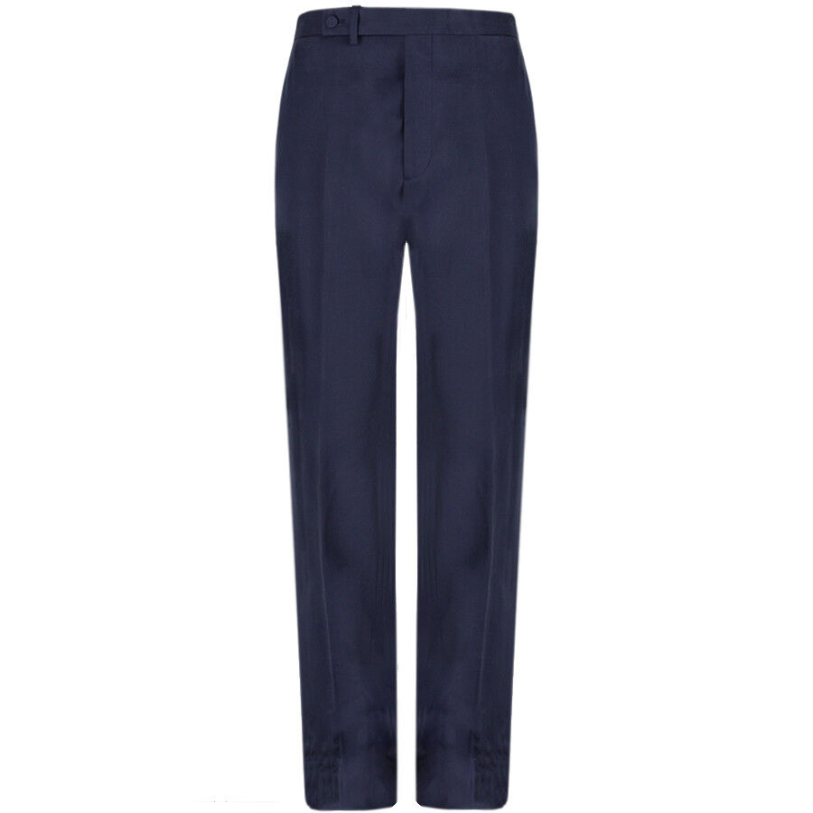 Raf Simons Navy bluee Tailored Classic Fit Straight Leg Trousers IT48 W32