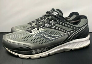 Saucony-Echelon-7-Everun-Grey-Black-Silver-Running-Gym-Shoes-Mens-Size-10-5