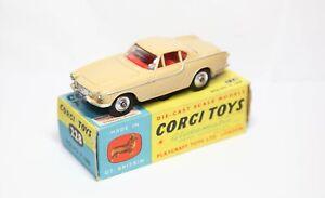 CORGI-228-VOLVO-P1800-nella-sua-scatola-originale-Quasi-Nuovo-Vintage-Originale-1960s