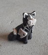 "Small Peter Fagan Scotland Cat with Fish Bone Figurine 1 1/8"" Tall"