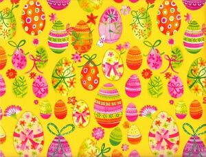 Painted easter eggs gift wrapping paper 6 ft sheet ebay painted easter eggs gift wrapping paper 6 ft negle Images