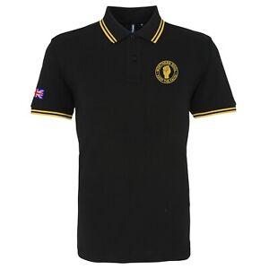 Para-Hombres-Camisa-Polo-Con-Punta-Soul-del-norte-con-logotipo-bordado-en-el-puno-Mod-Retro