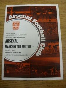 26-12-1968-Arsenal-v-Manchester-United-Creased-Folded-Scores-Noted-On-Covers