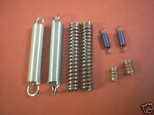 8 assorted sizes springs compression and extension