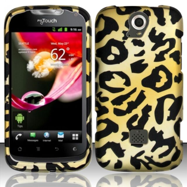 T-Mobile Huawei myTouch Q U8730 Rubberized HARD Case Snap On Phone Cover Cheetah