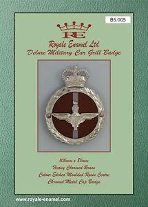 ROYALE ENAMEL ROYALE CAR GRILL BADGE 3414 2ND ROYAL TANK REGIMENT B2