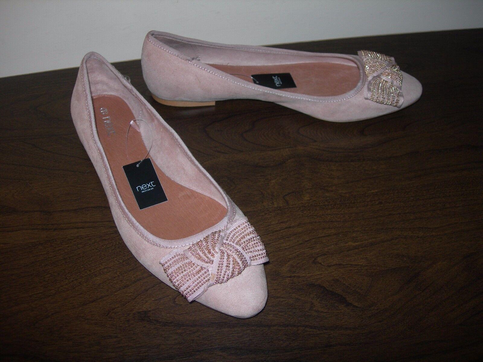 NEXT Femme Slip On Chaussures Ballet Pumps synthétique Dessus En Daim EU 40 UK 6.5