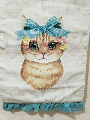 """Embroidered Easter Day 3D Easter Bunny Linen Table Runners Home Decor 14x72/"""""""
