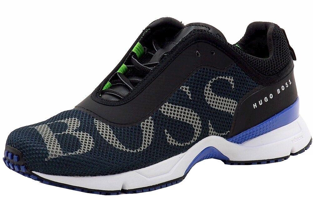 Hugo Boss Para Hombre Velox Moda Tenis Deportivas zapatos de Malla Azul Oscuro