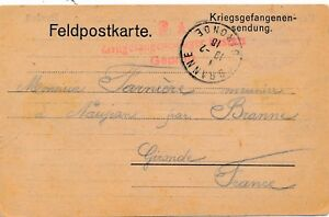 Hopital-de-Reserve-Rastatt-Lazarett-Gepruft-Zivil-Cover-War-WWI-Brief