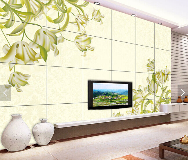 3D Painted Flowers Leaves 87 Paper Wall Print Wall Decal Wall Deco Indoor Murals