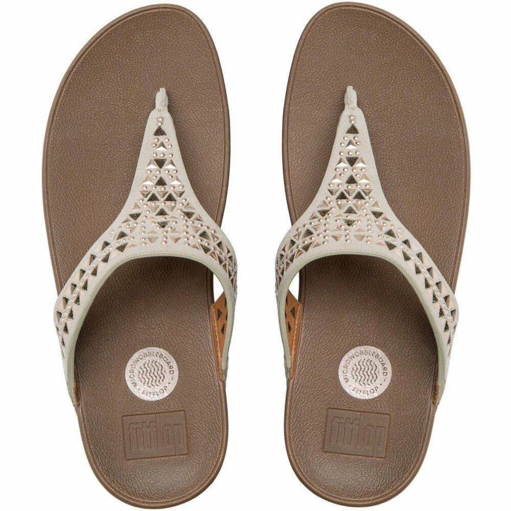 FitFlop Carmel Rose Gold Suede Toe-post Sandale   OUR Price