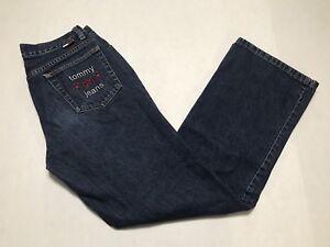 23bbab08 Vintage 90s Tommy Hilfiger Tommy Girl Jeans Spell Out Big Flag Denim ...