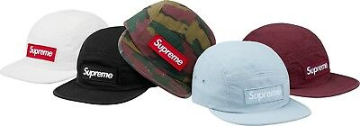 SUPREME Reflective Camo Camp Cap Blue Black Olive box logo camp cap tnf F//W 18